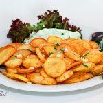 100 Knoblauchkartoffeln mit Tsatsiki